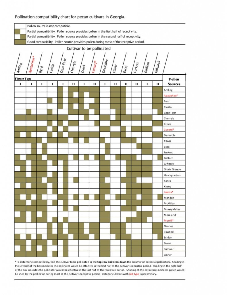 Pollination Compatibility Chart